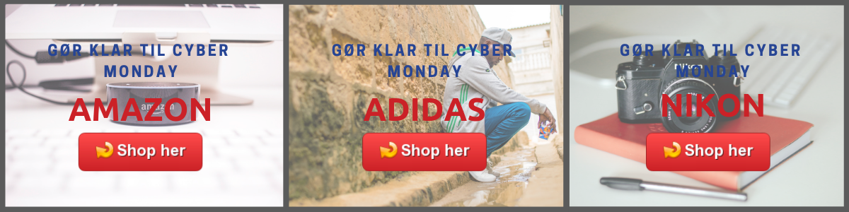 Cyber Monday tilbud fra USA til dig i DAnmark. Fragt med ShopUSA