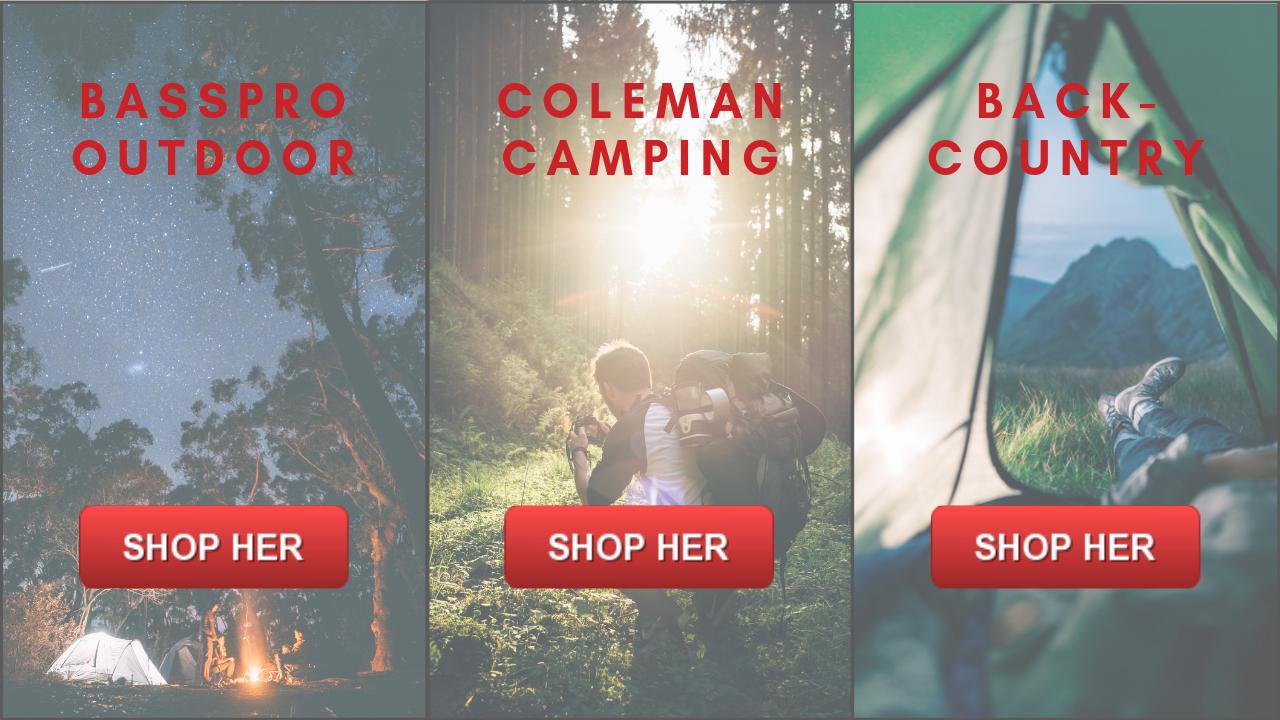 Camping, campinggrej og tilbehør