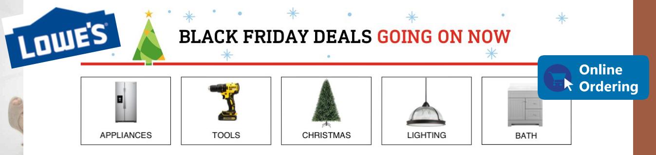 ShopUSA - Lowe's Black Friday Sales