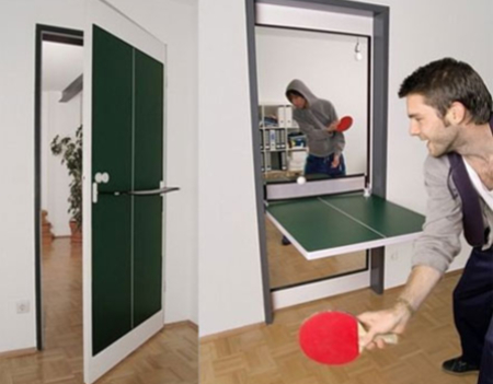 ping pong table / door