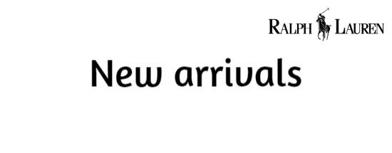New arrivals Ralph Lauren