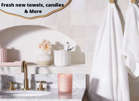 Fresh new towels, candles & More (1)