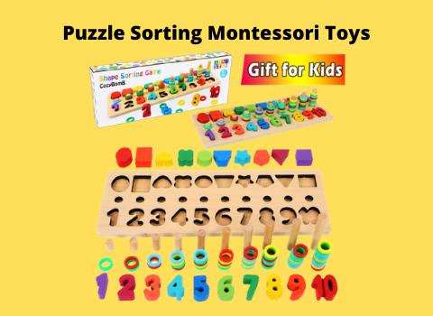 Puzzle Sorting Montessori Toys