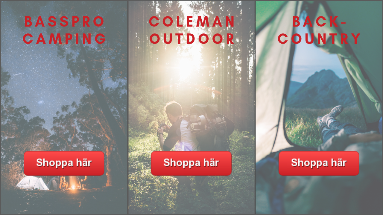 Camping och campingtilbehör från USA