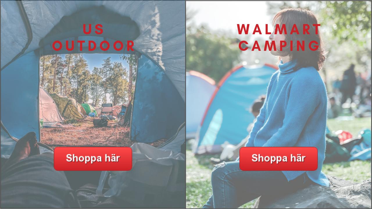 Campinutrustning och campingtilbehör från USA til Festival och Camping
