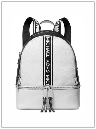ShopUSA - Rhea Zip Logo Pebble Leather Backpack