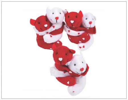 SHOPUSA - Hugging Valentine's Day Stuffed Bears
