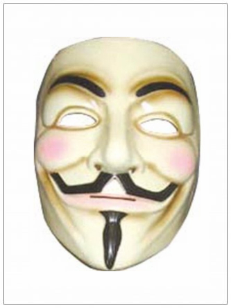 SHOPUSA - Rubies V for Vendetta Adult Mask