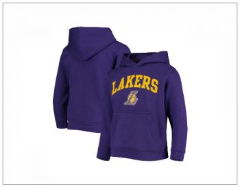 SHOPUSA - Youth Purple Los Angeles Lakers Team Pullover Hoodie